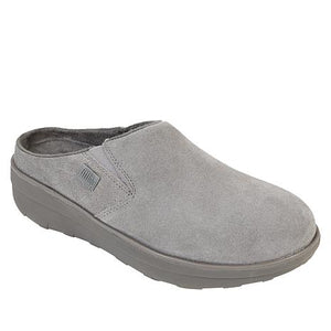 FitFlops Loaff Suede Clog-Grey
