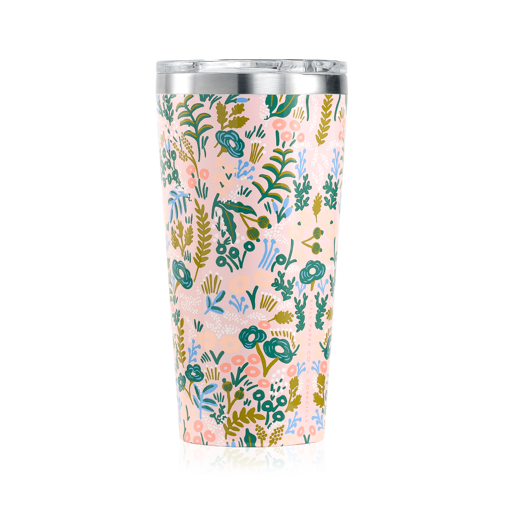 Rifle Paper Co. x Corkcicle Tumbler-Pink Tapestry