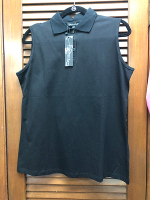 Compliments Black Collared Tank