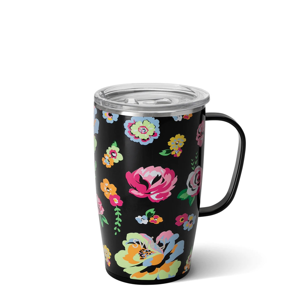 Swig Travel Mug-Black Floral