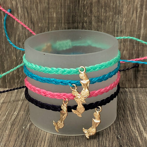 Simply Southern String Bracelet with Mermaid