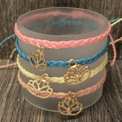 Simply Southern String Bracelet with Lotus