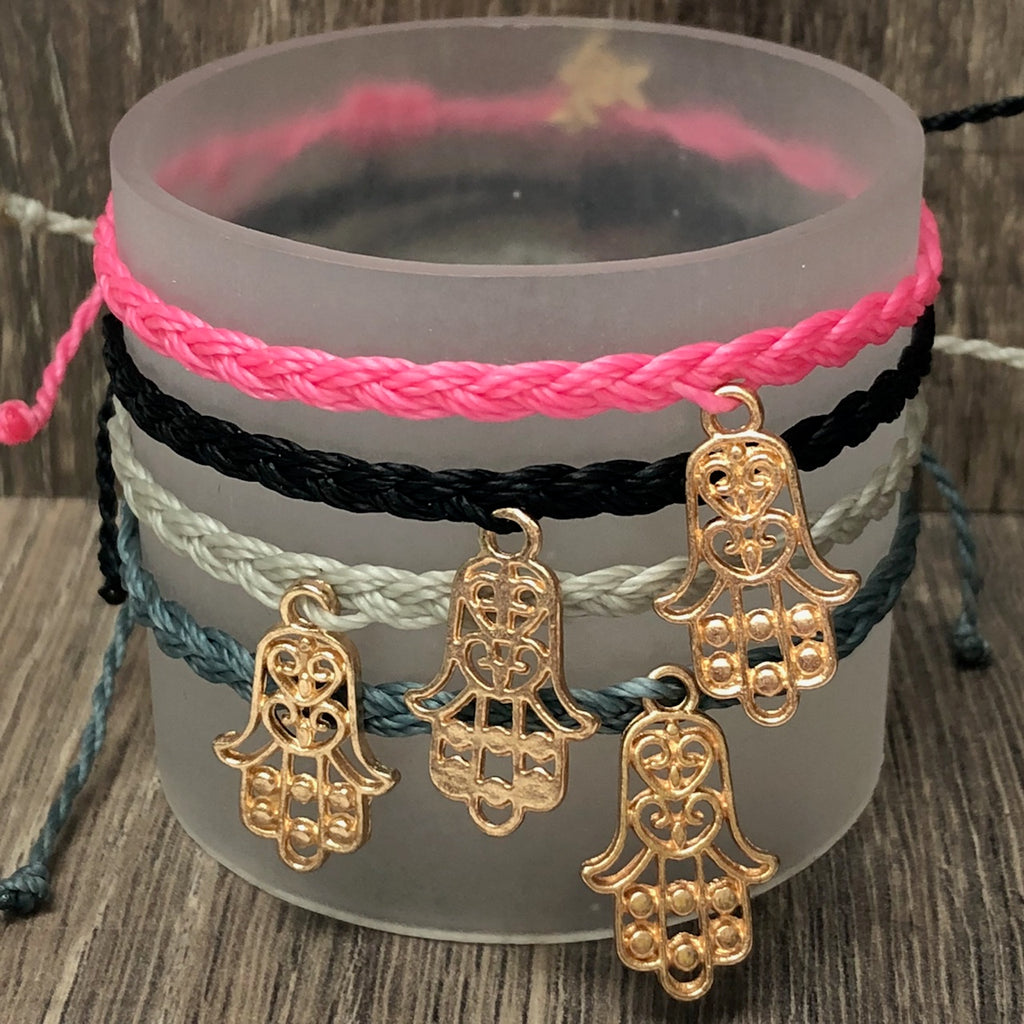 Simply Southern String Bracelet with Hamsa