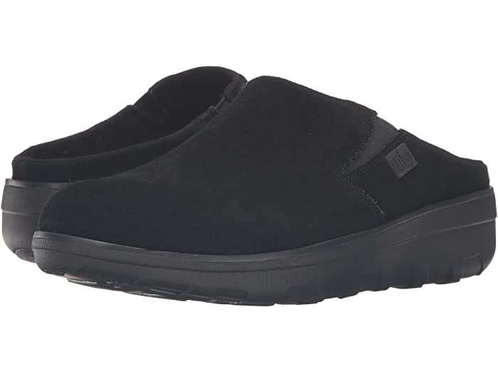FitFlops Loaff Suede Clog-Black