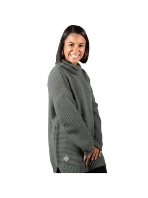 Simply Southern Turtle Neck Sweater-Grey