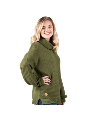 Simply Southern Turtle Neck Sweater-Green
