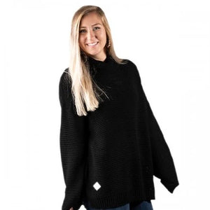 Simply Southern Turtle Neck Sweater-Black