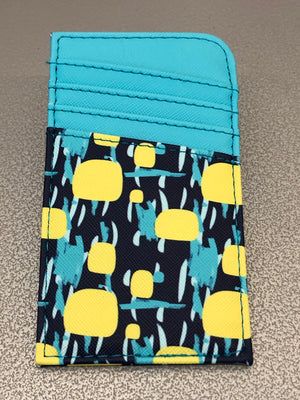 Scan Safe Wallet-Teal & Yellow
