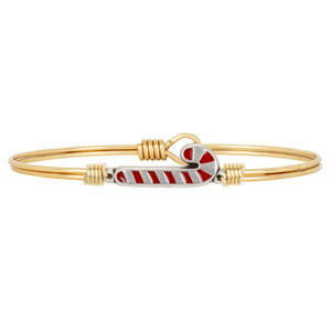 Luca + Danni Bangle-Candy Cane-Brass