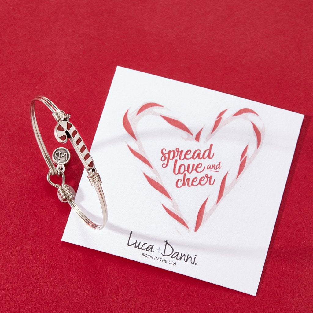 Luca + Danni Bangle-Candy Cane-Silver