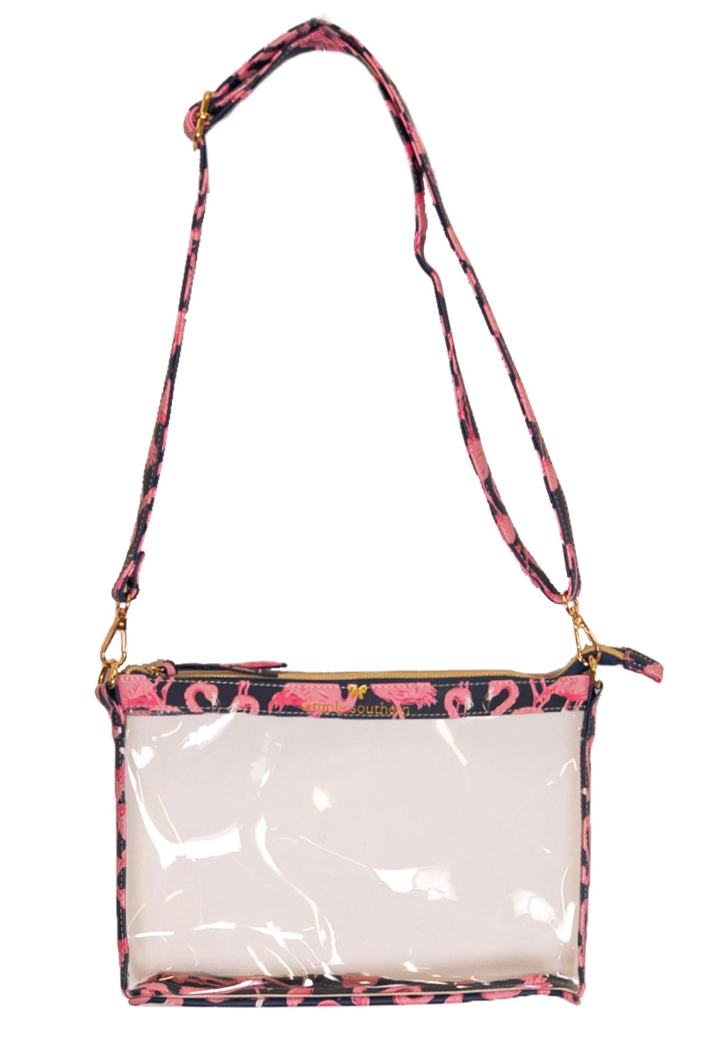 Simply Southern Flamingo Clear Crossbody