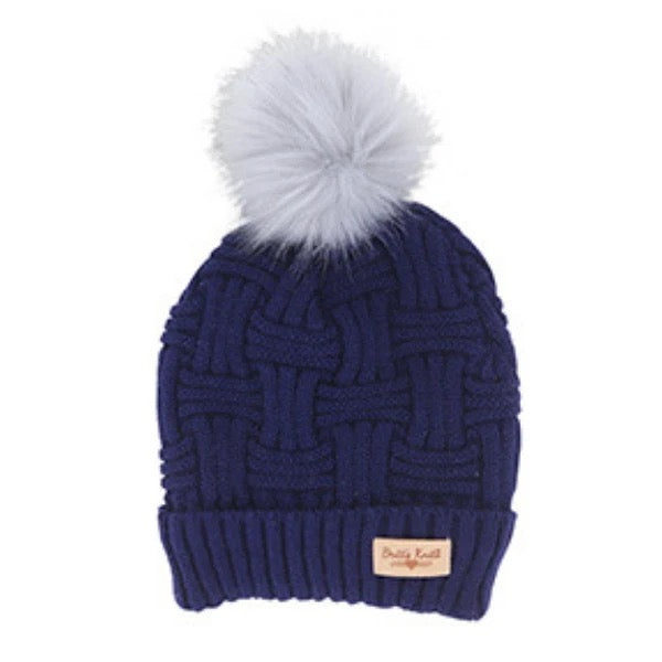 Britt's Knits Navy Plush Lined Hat