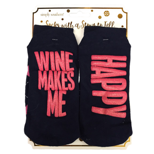Simply Southern Wine Makes Me Happy Socks