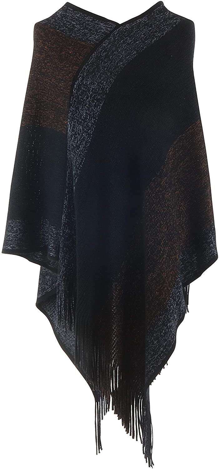 Jack and Missy Knit Poncho-Black