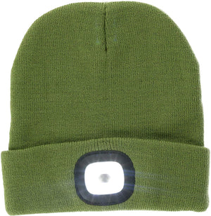 Night Scout Rechargeable LED Beanie-Green
