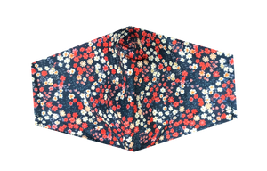 Women's Mask-Red White Blue Floral