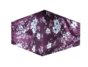 Women's Mask-Maroon Floral