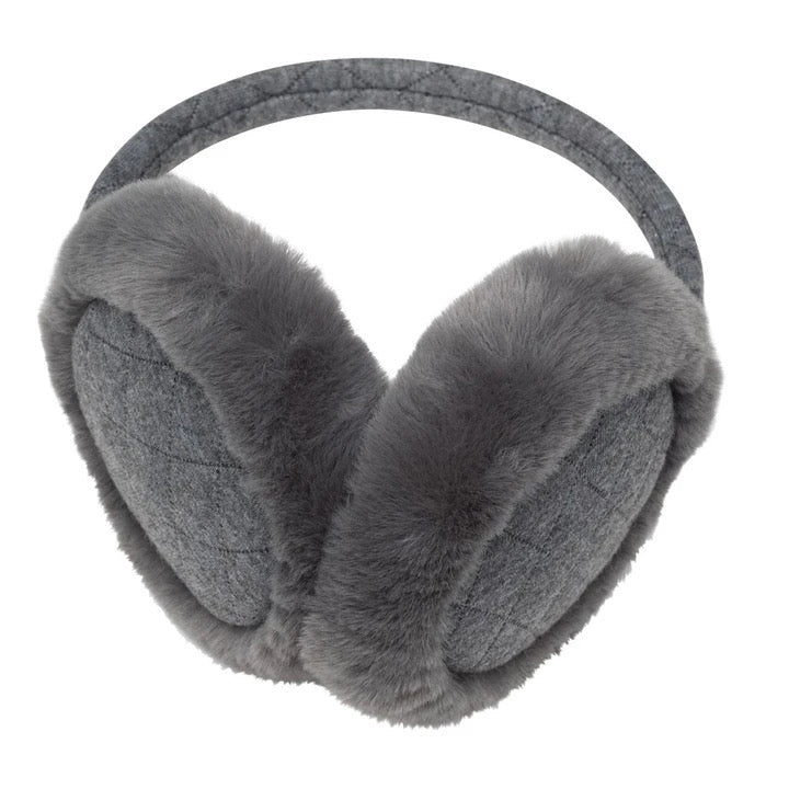 Top It Off Earmuffs-Grey