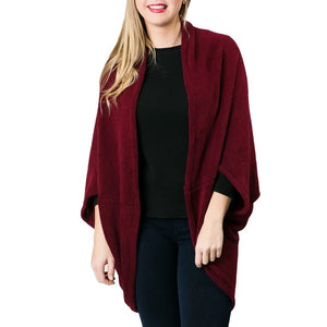 Top It Off Kendal Shrug-Merlot