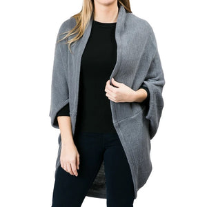 Top It Off Kendal Shrug-Grey