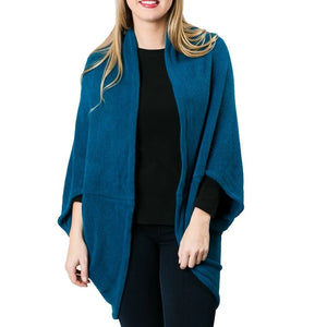 Top It Off Kendal Shrug-Teal