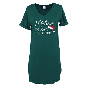 Hello Mello Christmas Night Shirt-Santa & Sleep