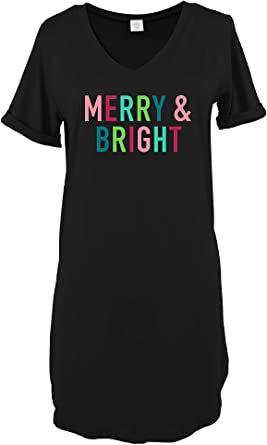 Hello Mello Christmas Night Shirt-Merry & Bright