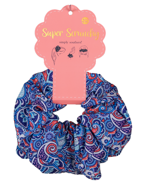 Simply Southern Super Scrunchy-Paisley