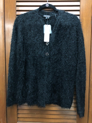 Marble Fashions Fuzzy Button Jacket