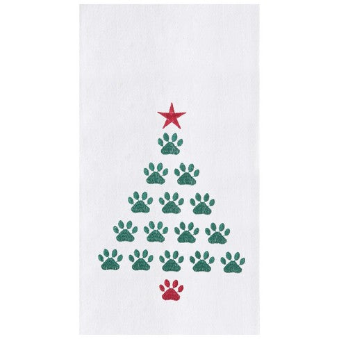 Paw Print Tree Towel