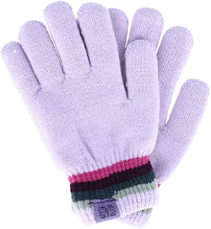 Britt's Knits Youth Plush Lined Gloves-Lilac