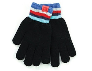 Britt's Knits Youth Plush Lined Gloves-Black