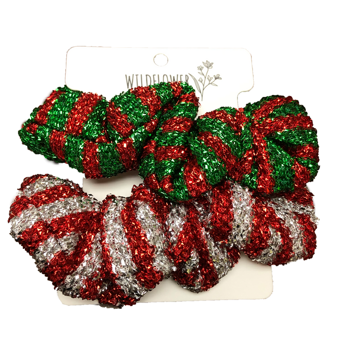 Holiday Scrunchies-Stripes
