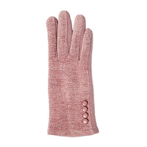 Top It Off Chenille Gloves-Pink