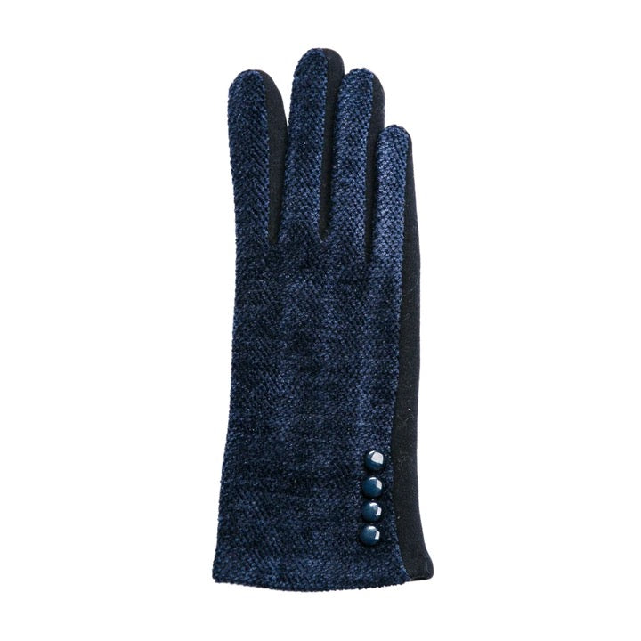 Top It Off Chenille Gloves-Navy