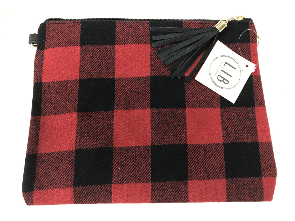 Buffalo Plaid Large Wristlet