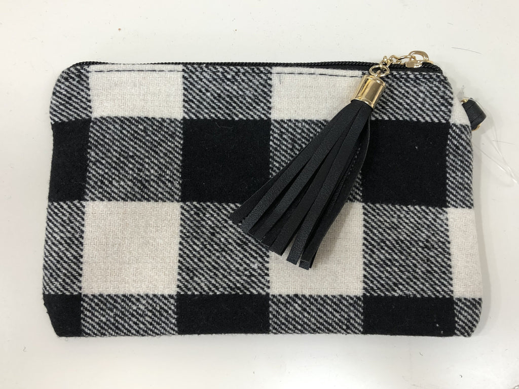 Gingham Plaid Small Wristlet