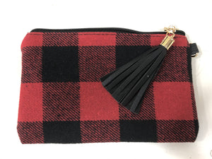 Buffalo Plaid Small Wristlet