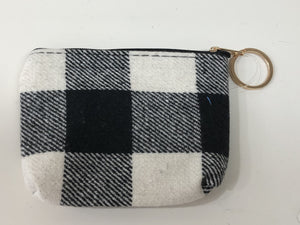 Gingham Plaid Coin Purse