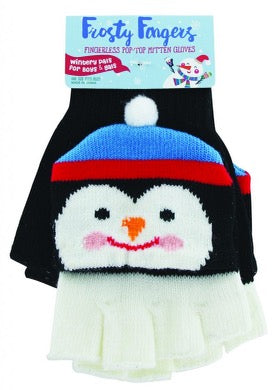 Frosty Fingers Youth Gloves-Penguin