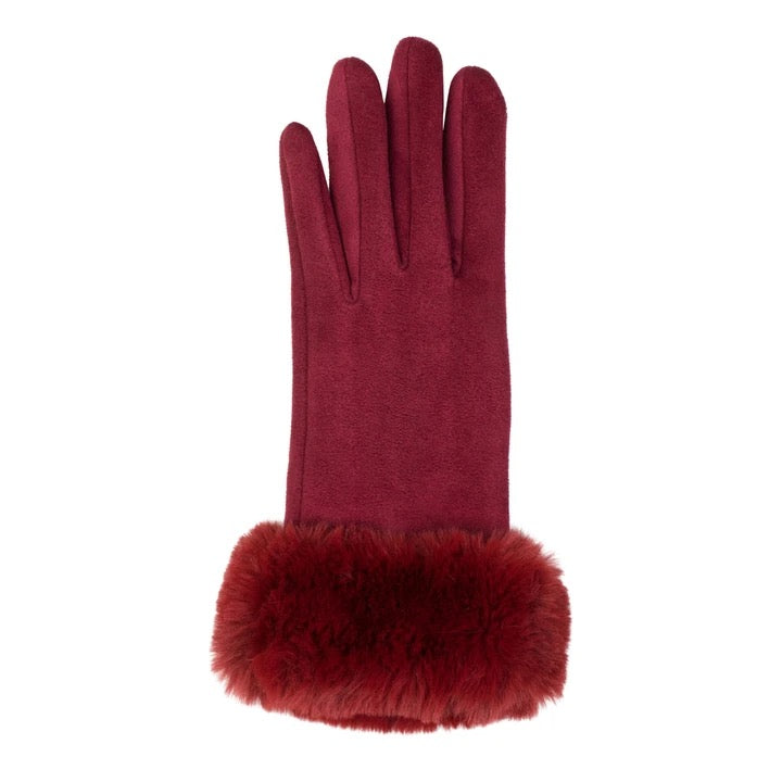 Top It Off Dark Red Kingsley Gloves