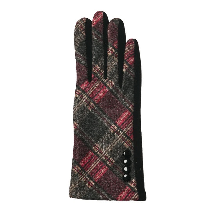 Top It Off Parker Gloves-Pink/Grey