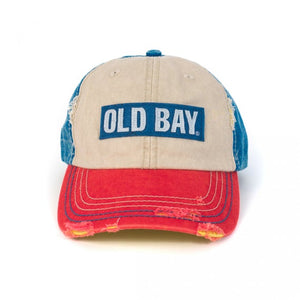 Old Bay Distressed Ball Cap