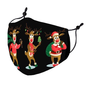 Rudolph Cartoon Mask
