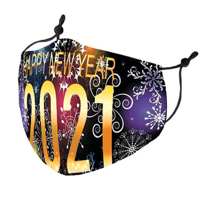 New Years Eve Multicolor Mask