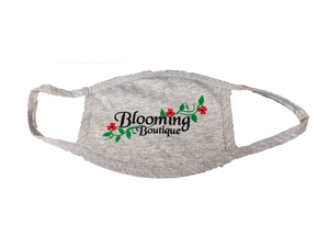 Blooming Boutique Mask-Grey