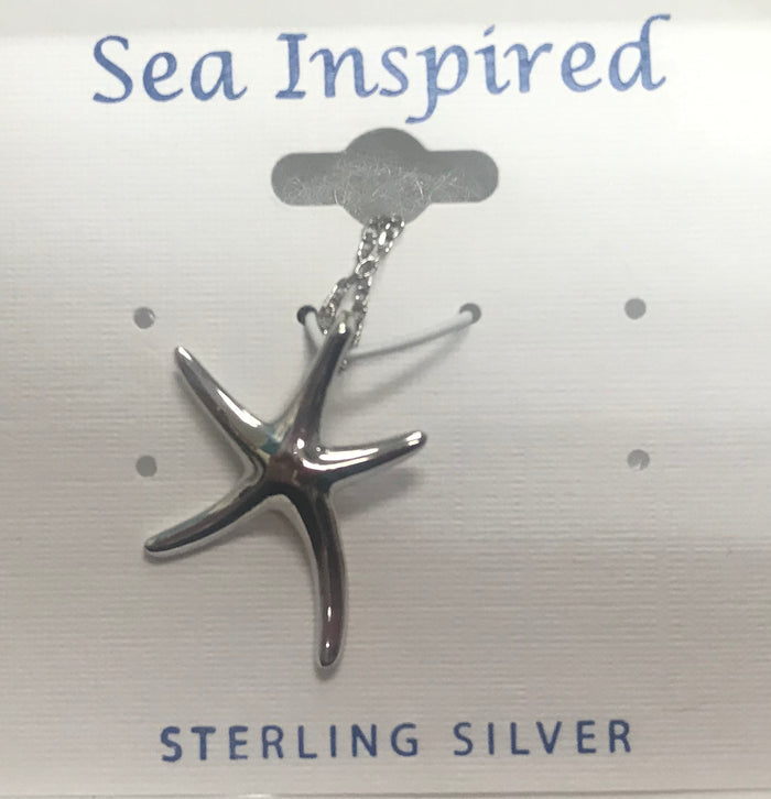 Sea Inspired Small Starfish Pendant