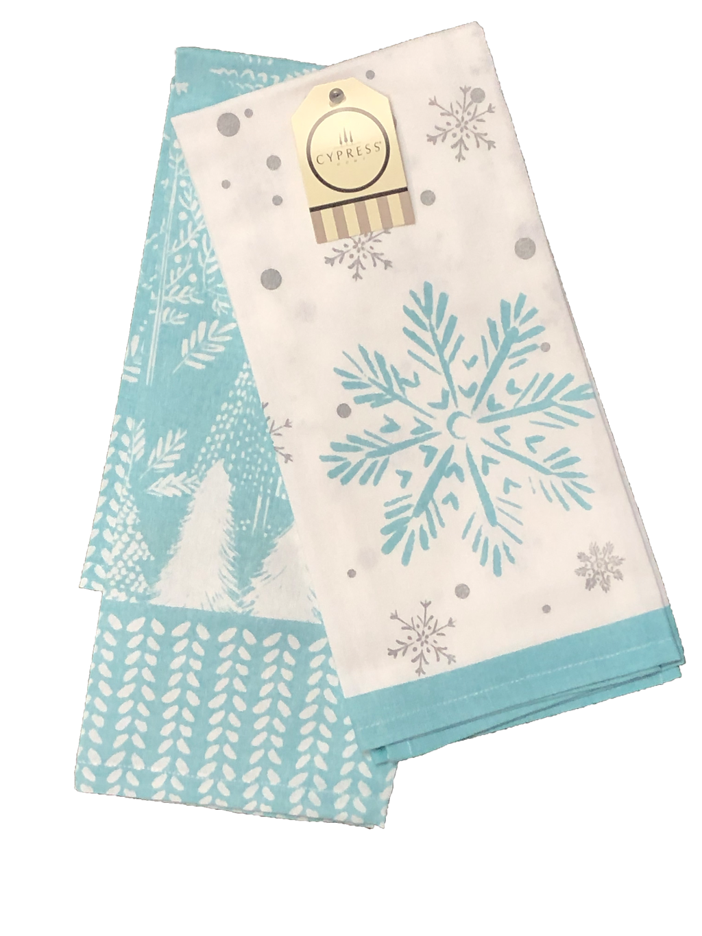 Snowflake Tea Towel Set-Thick