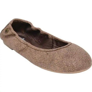Minnetonka Anna Ballerina Flat-Distressed Chocolate