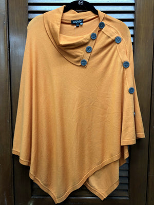 Marble Orange Poncho